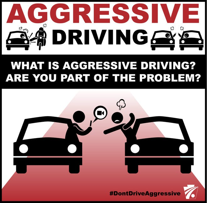 Aggressive driving image from PennDOT.