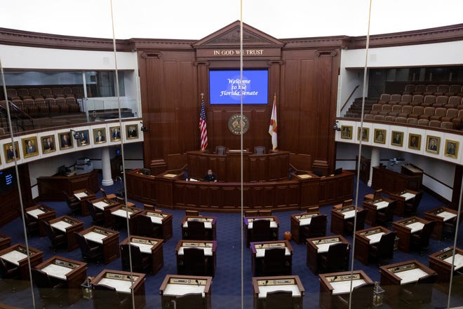 In preparation for Organization Session next week in the midst of a global pandemic, the Florida Senate has made changes to its chamber including moving desks further apart, limiting the number guests allowed on the floor of the chamber and installing a HEPA filter.
