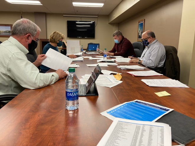 Commissioners Jim Porter and Cindy Cameron recently sat down with Port Authority Director Matt Abbott and Muskingum County Assistant Prosecutor Mark Zanghi to discuss the 227 applications submitted for CARES Act funding.