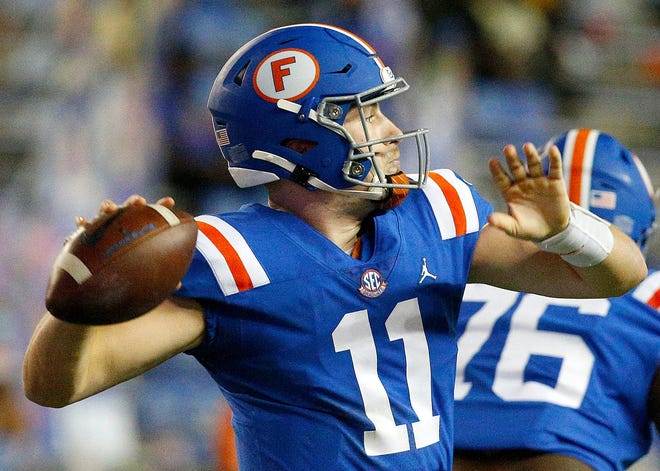 Florida quarterback Kyle Trask seems to be pulling away from the rest of the Heisman candidates, with 31 touchdown passes and only three interceptions.