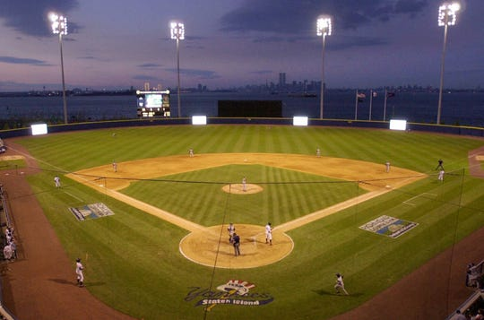 The Staten Island Yankees played at the Richmond County Bank Ballpark at St. George.