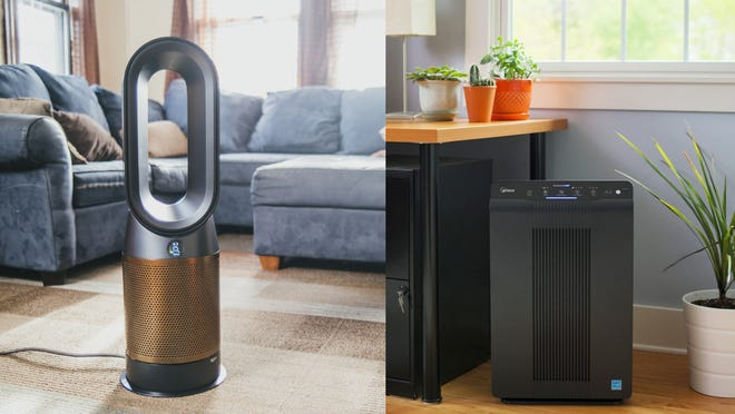 We like both the Dyson and the Winix.