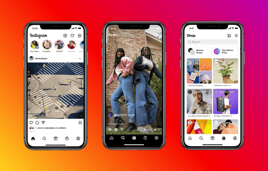 Instagram's design is adding the Reels and Shop tabs.