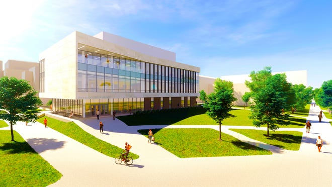 An artist's rendering of the future home of the Sinclair School of Nursing at the University of Missouri.
