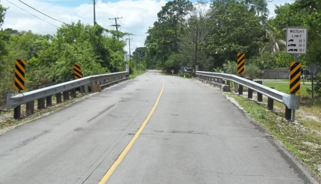 The Hanson Canal Bridge on North Bayou Black Road in Terrebonne Parish. The bridge, which was built in 1965, will be completely replaced starting Monday.