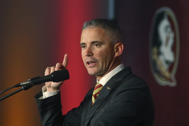 Florida State football fans had high hopes for the first season under coach Mike Norvell, but injuries and the impact of COVID-19 has FSU possibly heading for its worst record in 45 years. [Phil Sears/The Associated Press]