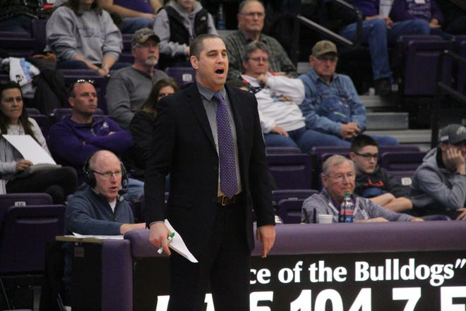 Daily Express file photo of Truman men's basketball coach Jeff Horner.
