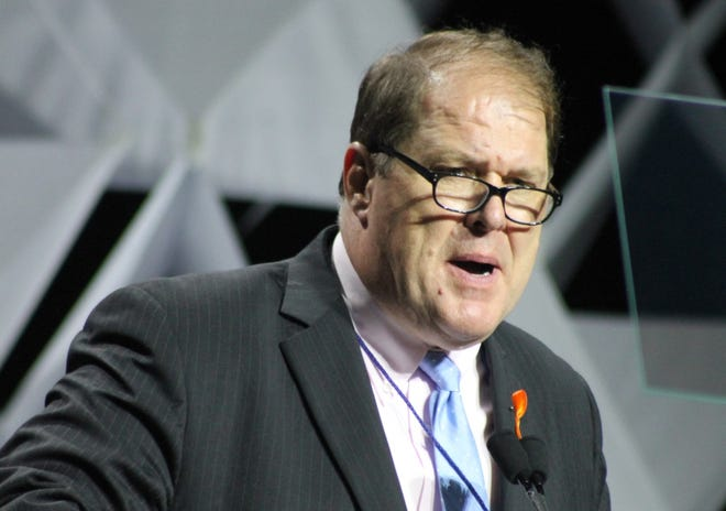 Gus Bickford, chairman of the Massachusetts Democratic party, has won a second four-year term.