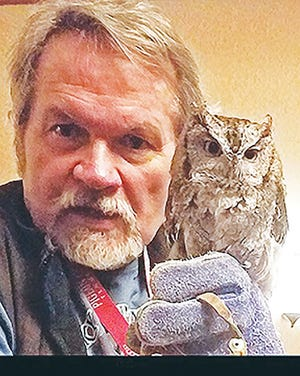 Stephen Lynn Bales and a screech owl