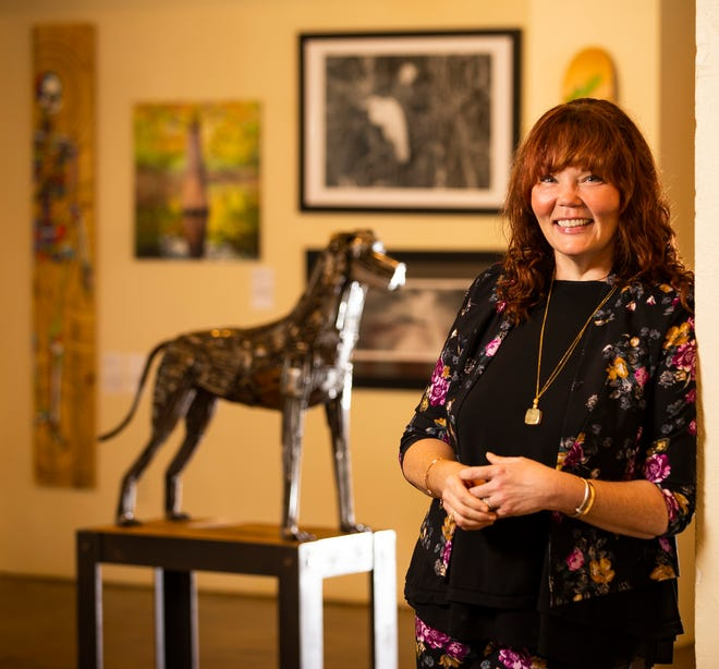 Lisa Midgett stands in the recently opened NOMA Gallery in the historic Coca-Cola bottling plant at 939 N. Magnolia Ave. on Thursday. Lisa and her husband, David, established the David and Lisa Midgett Foundation in 2014 as a vehicle to help patronize the arts in Ocala and eventually nationally.