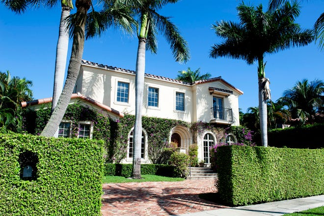 A Mediterranean-style house at 249 Seabreeze Ave. in Palm Beach just sold privately for a recorded $6.3 million.