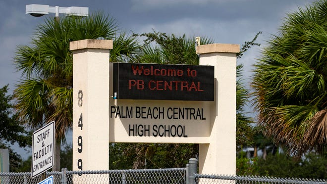 Palm Beach Central high School in Wellington, Florida on October 2, 2018.