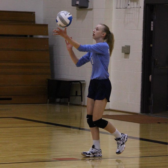 Kenleigh Nation was one of four Skyline High School volleyball players honored with post-season selections.