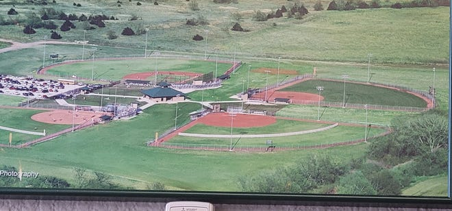 The four baseball/softball diamonds at Pratt's Green Sports Complex are currently laid with grass, but a matching grant from KDWPT could help the city pay to have the diamonds turfed in the near future.