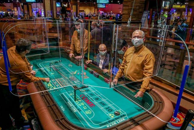 Twin River casino's efforts to meet coronavirus mandates.  [The Providence Journal / David DelPoio]