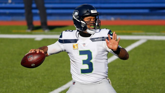 Quarterback Russell Wilson and the Seattle Seahawks will be looking to bounce back from last week's loss at Buffalo when they go on the road to face the Los Angeles Rams on Sunday.