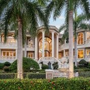 The home, known as Villa del Sogno, sits on 1.35 acres on the Gulf of Mexico in the private Regent Court enclave of the Longboat Key Club.