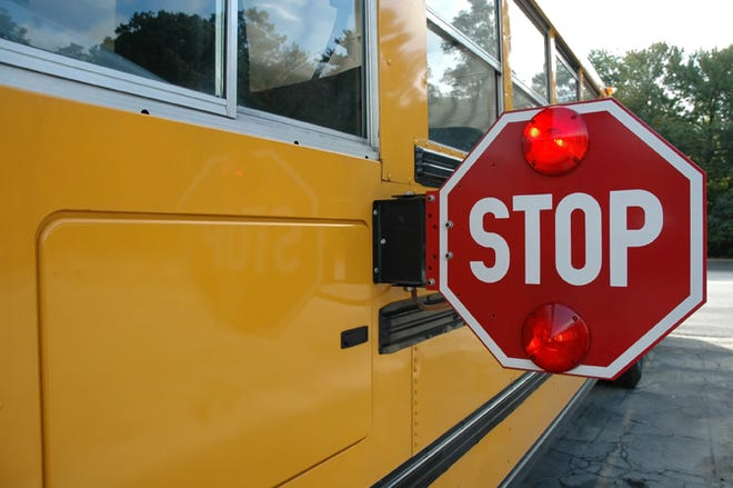 [School bus stock photo]