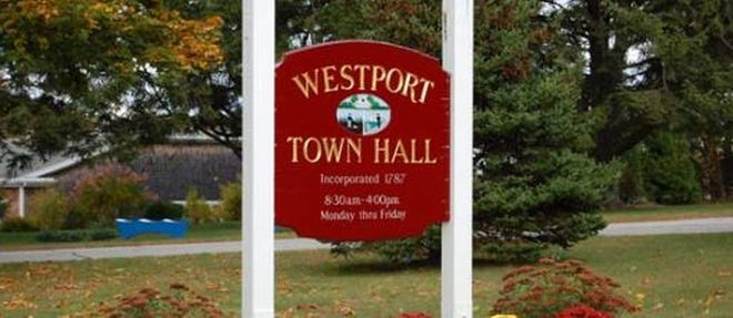 Sign for Westport Town Hall