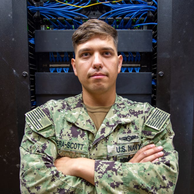 Jose Rivera-Scott of Hope Mills, an information system technician 2nd class, is a network operations technician assigned to Camp Lemonnier inDjibouti.