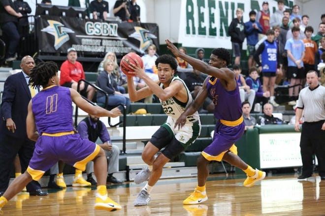 Junior forward De'Ante Green from The Christ School in Asheville is one of the top prospects in North Carolina's recruiting Class of 2022. {Photo courtesy of the Asheville Citizen-Times}