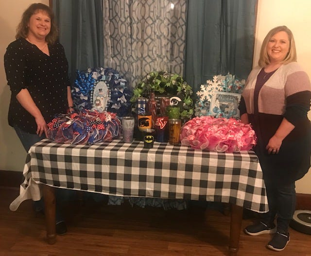 Angie Stull (left) and Tiffany Camburn are eager to display their crafts at Christmas Reimagined.