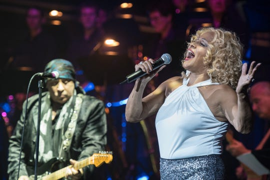Darlene Love, Steven Van Zandt and Paul Shaffer  performed in concert at the Paramount Theater in Asbury Park on Sept. 12, 2015.