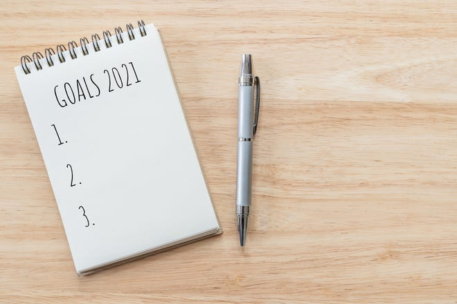 Write down your goals and look at them as often as possible.