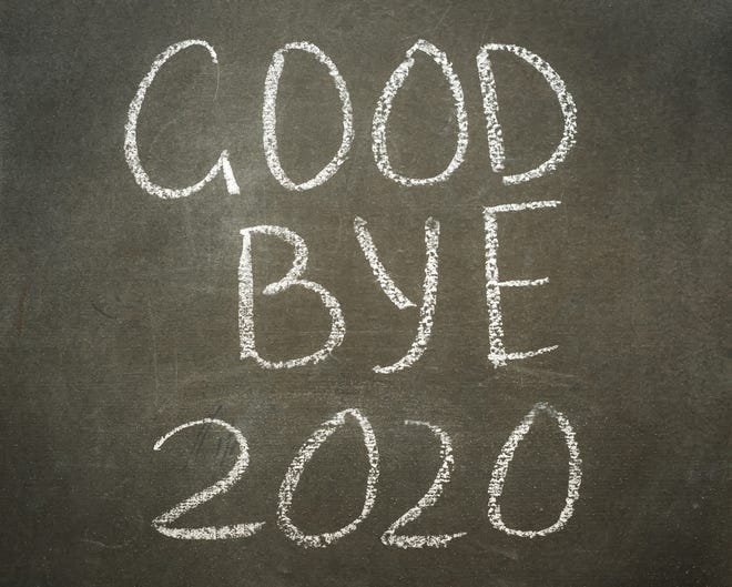 """Goodbye 2020"" graphic"