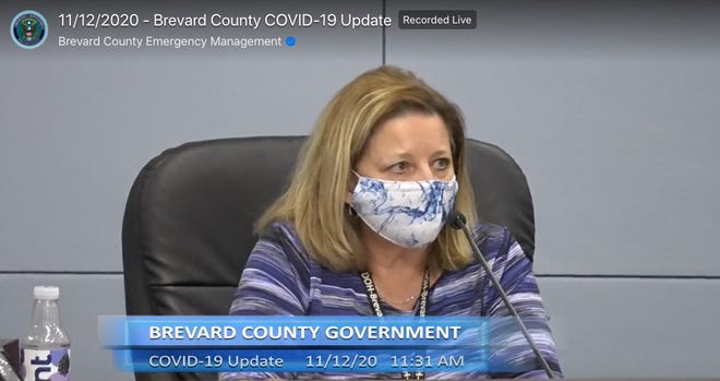 Maria Stahl, administrator for the Florida Department of Health in Brevard County, discusses COVID-19 during a Facebook Live briefing on Thursday.