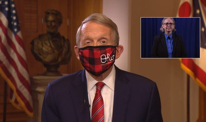 Ohio Gov. Mike DeWine gave an evening address to Ohioans to wear masks and avoid gatherings to curb the recent rise in coronavirus cases and hospitalizations.