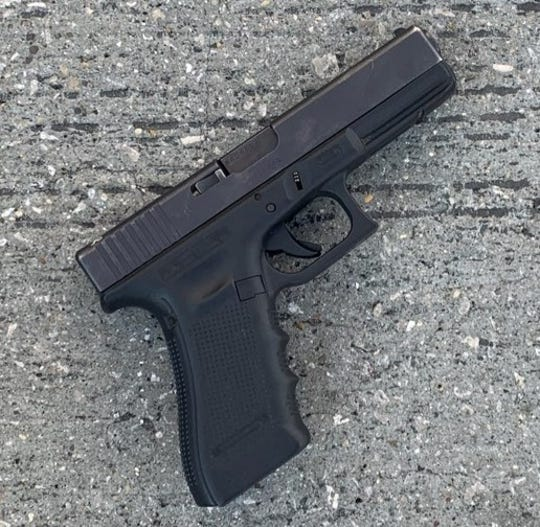 The firearm recovered in the arrest of Devin Lovett.