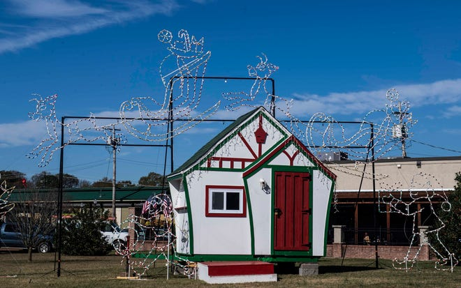 John Allen is bringing back the Santa house in the lot at the corner of Highland Avenue and Lafayette Street in Downtown Jackson for children to visit with Santa Claus this Christmas season.