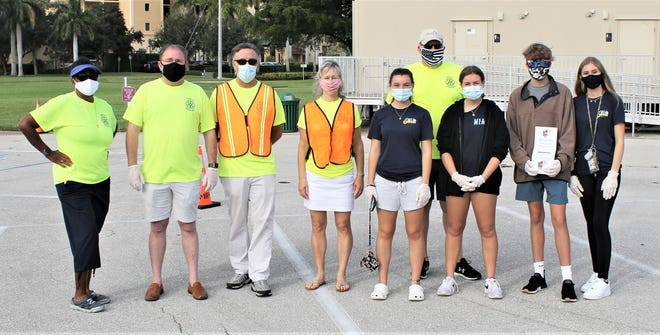 The community came together under the leadership of the Rotary Clubs of Marco Island with the Neighbors Helping Neighbors Food Drive at Veterans Park on Oct. 24.