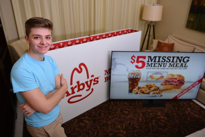 John Casterline, of Naples, received a TV and sponsorship from Arbys.