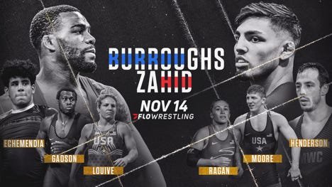 Two-time Arizona State wrestling NCAA champion Zahid Valencia returns from a nine-month suspension to face 2012 Olympic champion Jordan Burroughs on Saturday.