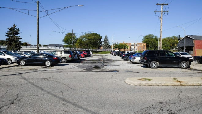 The West Quay parking lot in downtown Port Huron in spring 2018.