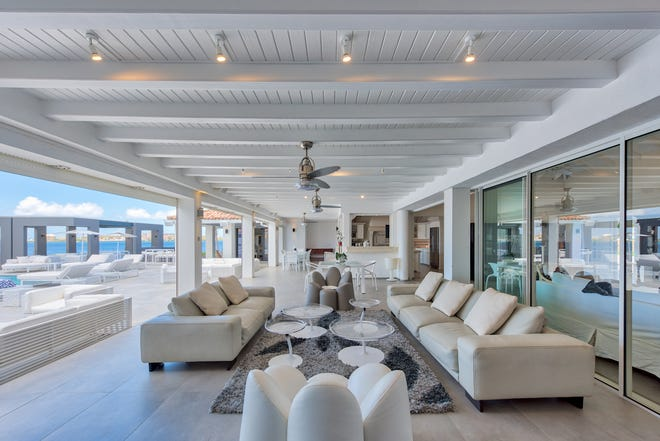 French St. Martin: The 4-bedroom Villa Mirabelle on the Simpson Bay Lagoon is a private luxury retreat with access to a boat dock and petite beach. Weekly stays start at $7,000.
