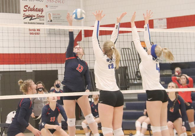 Tori Erickson and the Fertile-Beltrami volleyball team fell 3-1 to Walker-Hackensack-Akeley on Friday night.