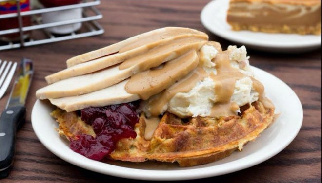 Metro Diner with multiple locations in the Jacksonville area will be serving a Thanksgiving feast as well as other holiday specialties  -- such as the stuffing waffle with roast turkey and the trimmings  -- on Nov. 26. The holiday meal will be available for dine-in and take out.