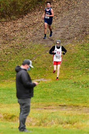 Runners compete during the Tri-Valley League Pioneer Division XC Championships on Saturday, Nov. 14, 2020 at Vernon-Verona-Sherrill High School.