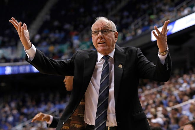 Syracuse head coach Jim Boeheim and the Orange  finished in the middle of the pack in the Atlantic Coast Conference last season before the pandemic halted everything in March. They're picked to finish there again.