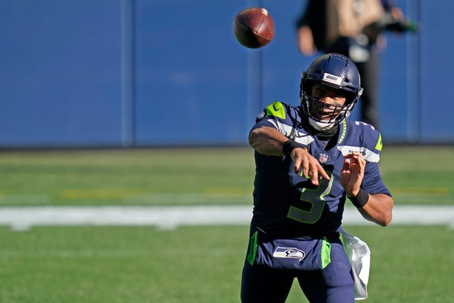 Russell Wilson and the Seattle Seahawks will look to stay atop the NFC West when they play at the Los Angeles Rams on Sunday.
