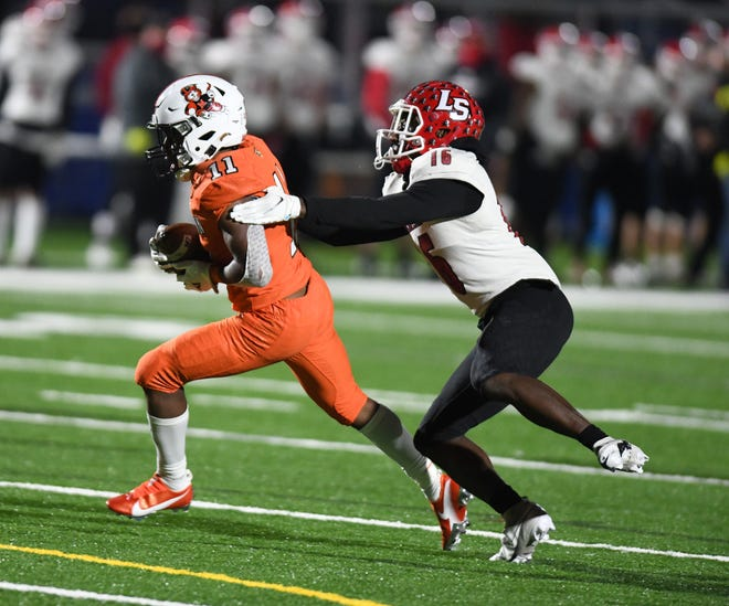 Massillon - Cincinnati LaSalle Div. II State Semifinals game held at Impact Stadium, Marysville. November 13, 2020.