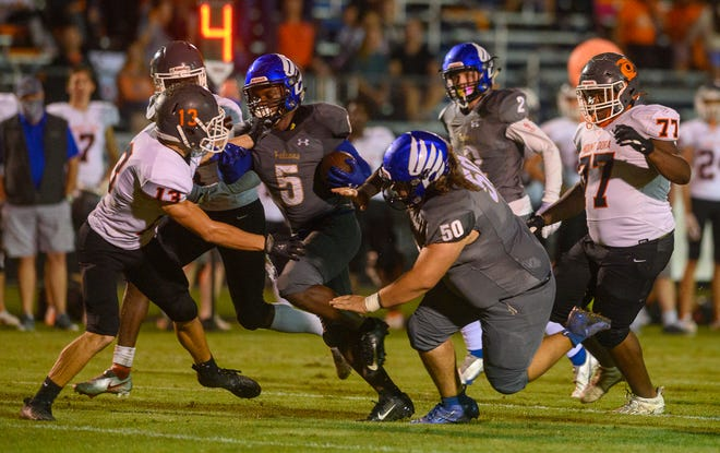 In this file photo, Pedro Menendez High School beats Mount Dora 32-27 at home on Friday, Nov. 13, 2020. Menendez announced Tuesday that Matt McCool will serve as its new athletic director.