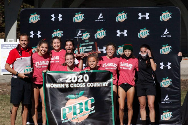 The Flagler College women's cross country team won their third straight conference title on Saturday in Oakwood, Georgia.