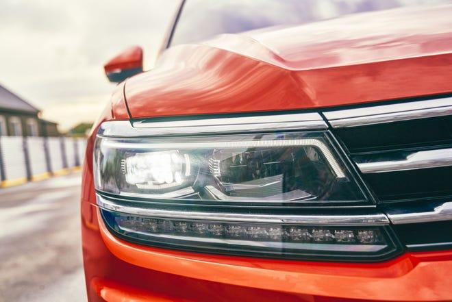 Front view of the 2021 Volkswagen Tiguan.