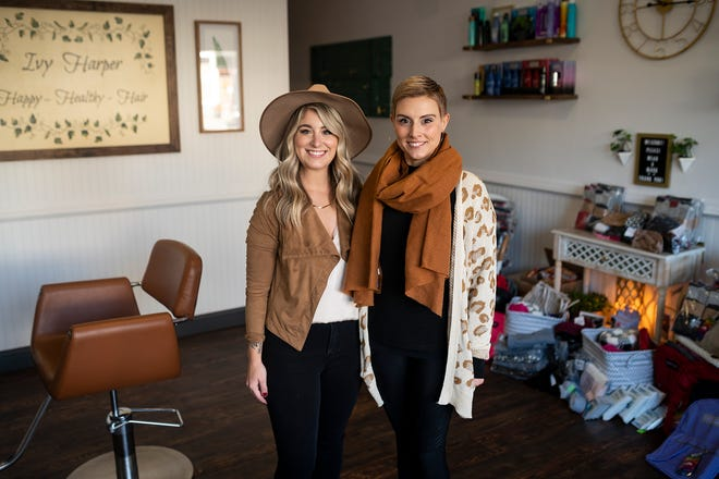 MILLBURY -  Sara Toedt and Melissa Ragaini, owners of Ivy Harper Hair Salon, are running a charity drive for the homeless. Their children have been helping pack up backpacks with donated supplies.