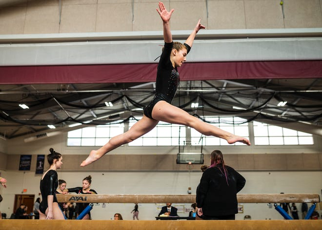Mask requirements have been eased for low-risk sports such as gymnastics.