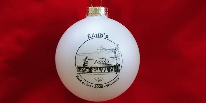 Collectable Christmas Ornament 2020 Fond du Lac Edith's Bridal to feature on Soroptimist 2020 ornament
